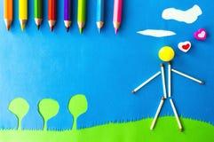 Lek för barn` s: förälskade manar arkivfoton