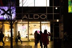 En filial av ALDO ALDO Group är en ledande modeåterförsäljare, med mer än 20.000 medlemmar över hela världen och nästan 200 miljo royaltyfri bild