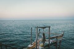 En fisherman'sställning arkivfoto