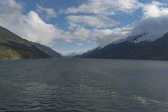 En fjord Royaltyfria Foton