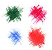 En fläck av målarfärg. 4 i 1 Fotografering för Bildbyråer