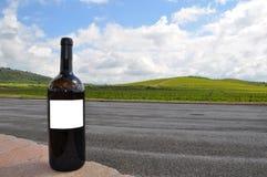 En flaska av wine Tuscany Italien arkivbilder