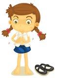 En flicka i skolalikformig Arkivfoton