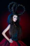 En flicka med en krona av hår Royaltyfri Bild
