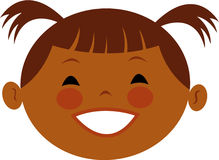 En flicka med pigsvanar Royaltyfri Illustrationer