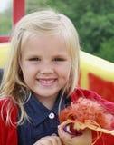 En flicka som smilling Royaltyfri Fotografi