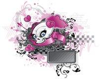 Punk design för flicka Arkivfoton