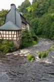 En flod i Tyskland Fotografering för Bildbyråer