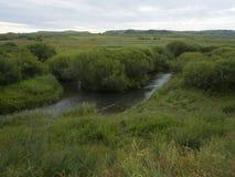 En flod kallade Glogen i Inner Mongolia Arkivfoton