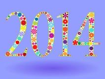 2014 en flores Imágenes de archivo libres de regalías