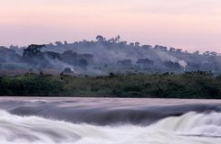 En flåshurtig flod i Sydafrika. Royaltyfri Fotografi