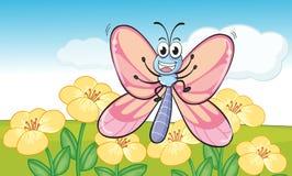 En fluga i natur stock illustrationer