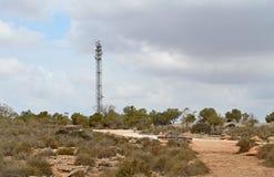 En flyg- mast i en skönhetfläck fotografering för bildbyråer
