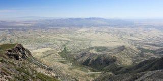 En flyg- sikt av Hereford, Arizona, från Miller Canyon Arkivbilder