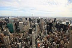 En flyg- sikt av New York Arkivfoton