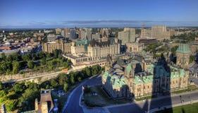 En flyg- sikt av Ottawa, Kanada Royaltyfri Fotografi
