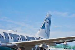 En flygbuss A319 från Frontier Airlines Arkivfoton