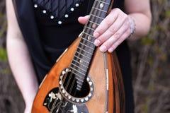 En folk mandolin Royaltyfri Foto