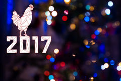 2017 en fondo de la Navidad Fotografía de archivo