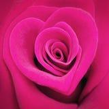En forma de corazón rosado subió fotografía de archivo