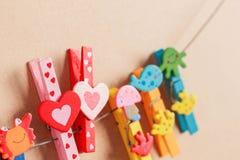 En forme de coeur avec coloré Photo libre de droits