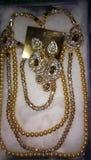 En forme de coeur de bijoux de main bel Photos stock