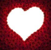 En forme de coeur des roses rouges avec le fond d'isolement pour l'espace de copie Photographie stock
