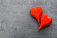 En forme de coeur en bois Cartes de voeux Valentine& x27 ; salutation de jour de s Photographie stock libre de droits
