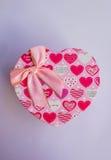 En forme de coeur rose Images stock