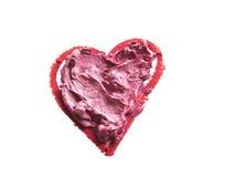 En forme de coeur rouge et rose heurté Image libre de droits