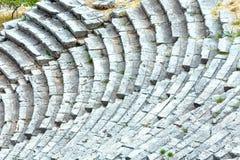 En forntida amfiteater (Grekland) Arkivfoto
