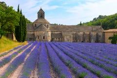 En forntida kloster Abbaye Notre-Dame de Senanque Fotografering för Bildbyråer