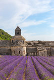 En forntida kloster Abbaye Notre-Dame de Senanque Arkivbilder