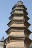 En forntida pagoda i det Shaolin tempelet, Kina Royaltyfria Foton