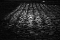 En forntida romersk väg Arkivfoto