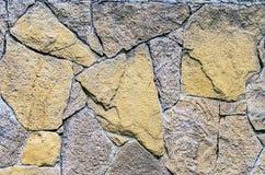 En forntida stenvägg Arkivbilder
