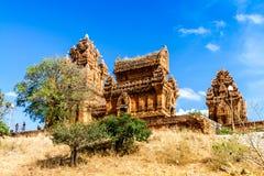 En forntida tempel i Phan ringde, Vietnam Fotografering för Bildbyråer