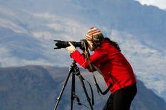 En fotógrafo de la ubicación Imágenes de archivo libres de regalías