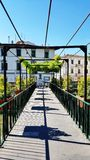 En fot- bro i Florence, Italien arkivbild