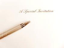Ett specialt inbjudankort Arkivbild