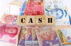 Kontant pengarbegrepp Royaltyfria Bilder