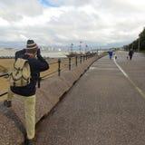 En fotografWorks Along Magazines promenad, nya Brighton Arkivfoto