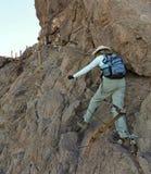 En fotvandrare i den Picacho maximumdelstatsparken, Arizona Arkivfoton