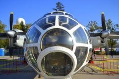 En främre sikt för militärt flygplan 30 Royaltyfria Bilder