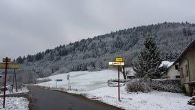 en Francia del neige foto de archivo