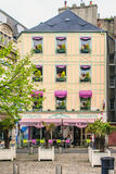 En fransk restaurang Arkivbild