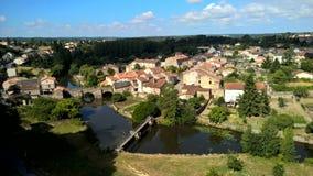 En fransk stad Arkivbilder