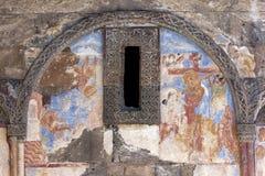 En frescoe på en vägg av kyrkan av St Gregory illuminationsenheten på anien i Turkiet Fotografering för Bildbyråer