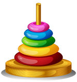 En färgrik rund leksak Royaltyfria Foton