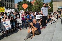 En fridsam demonstration Fotografering för Bildbyråer